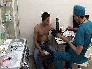Young boy take medical exam